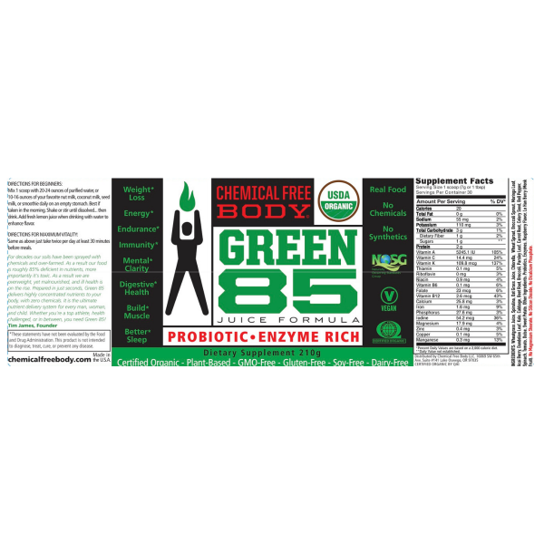 Green_Juice_85_Chemical_Free_Body_weightloss_label