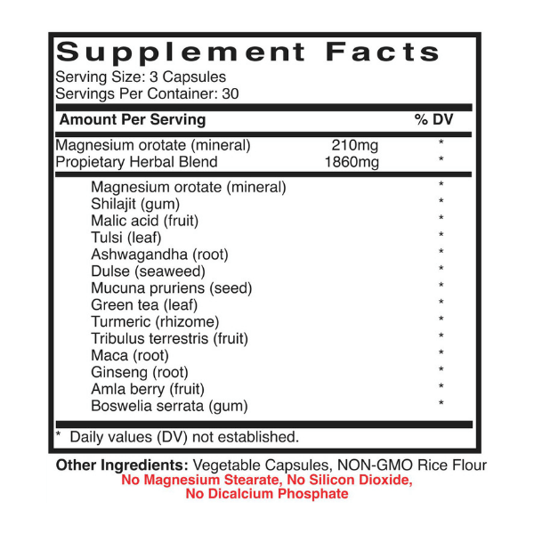 inflamation_pain_reduce_Recovery_power_Chemical_Free_Body_Supplement_facts